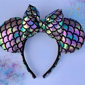 mayrafabuleux Accessories - Oil Slick Mermaid  Minnie Ears, Minnie Mouse Ears